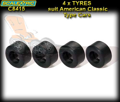 SCALEXTRIC C8415 - Pro Parts 4x Silicon AMERICAN CLASSIC Tyres