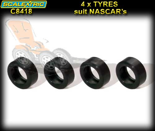 SCALEXTRIC Pro Parts - 4 x Silicon NASCAR Tyres