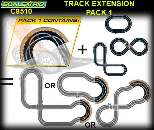 SCALEXTRIC TRACK C8510 - Track Extension Pack 1