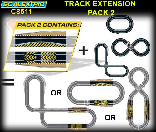SCALEXTRIC TRACK C8511 - Track Extension Pack 2