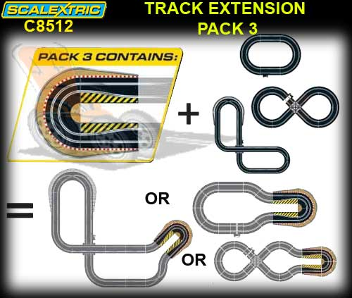 SCALEXTRIC TRACK C8512 - Track Extension Pack 3