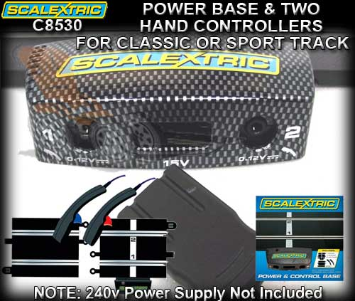 SCALEXTRIC TRACK C8530 - Powerbase with 2 hand controllers
