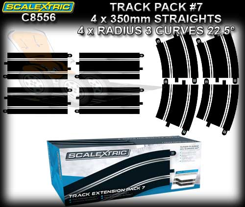 SCALEXTRIC TRACK C8556 - Extension Pack 7 - R3 Curves & Straight
