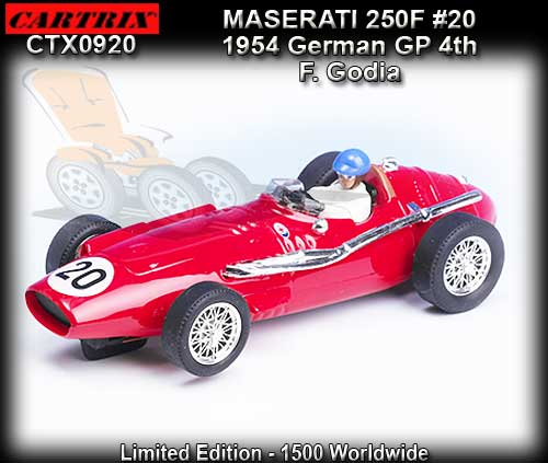 CARTRIX 0920 - Maserati 250F F1 1956 - 4th place German GP