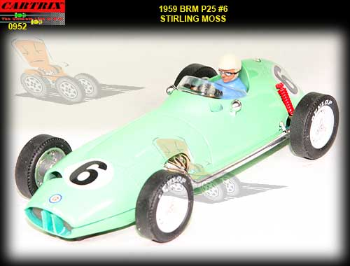 CARTRIX 0952 - BRM P25 1959 Stirling Moss #6