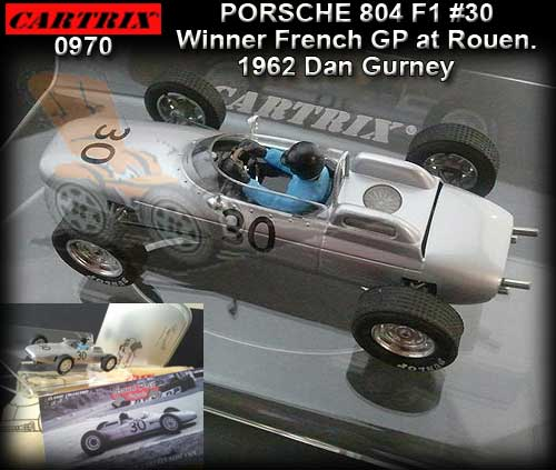 CARTRIX 0970 - Porsche 804 F1 1962 - winner French GP
