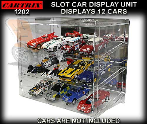 CARTRIX 1202 - Slot Car Display Unit fits 12 cars - Mirror back