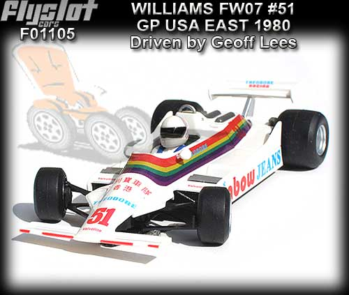 FLY F01105 - Williams FW07 #27 GP USA East 1980 - Geoff Lees #51