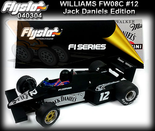 FLYSLOT F040304 Williams FW08C F1 Series - Jack Daniels #12