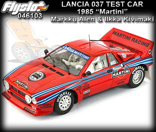 FLYSLOT 046103 - Lancia 037 #3 Test Car 1985 - Martini (red)