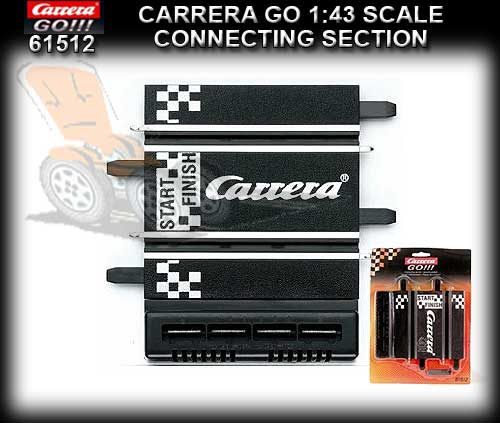 CARRERA GO 1:43 TRACK 61512 - Connecting Track Section two plug