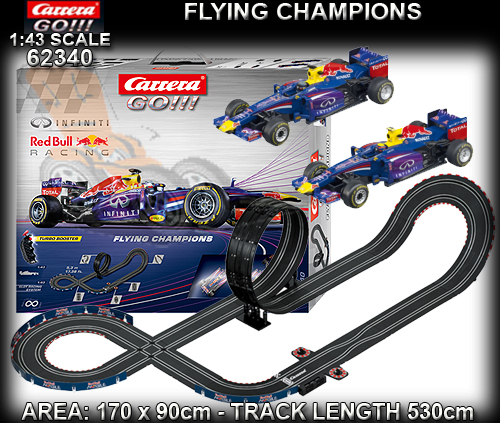 CARRERA GO 1:43 SET 62340 - Flying Champions - Red Bull Racing
