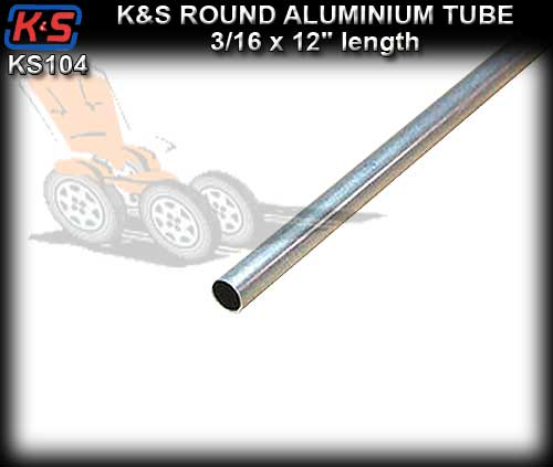 "KS104 - Aluminium Tube 3/16"" x 12"" length"