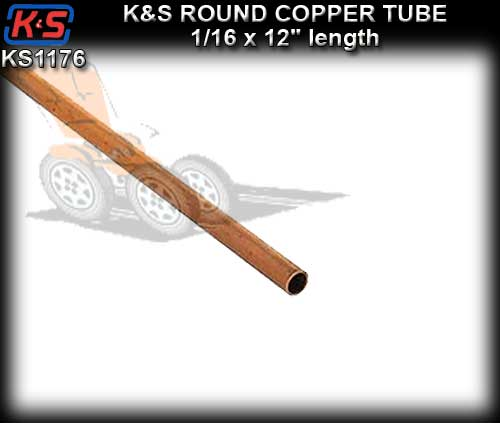 "KS1176 - Copper Tube 1/16"" x 12"" length"