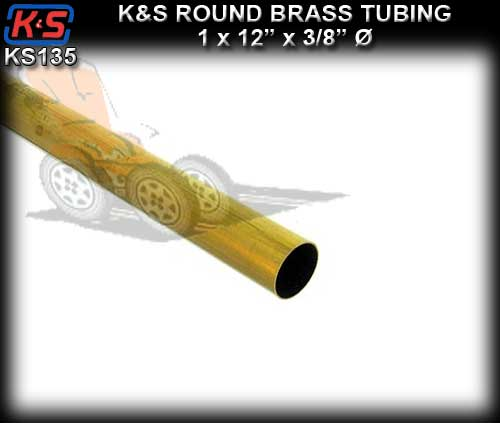 "KS135 - Brass Tube 3/8"" x 3/8"" x 12"" length"