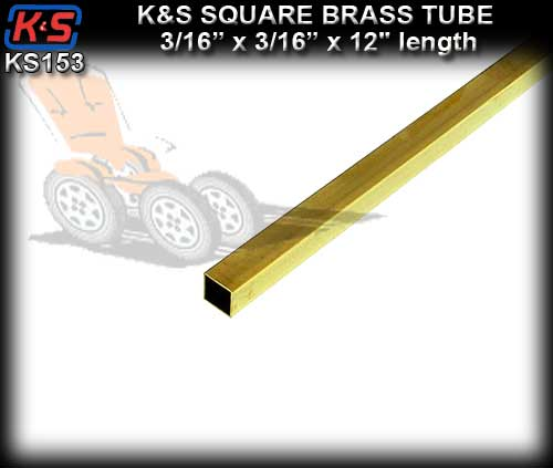 "KS153 - Square Brass Tube 3/16"" x 3/16"" x 12"" length"