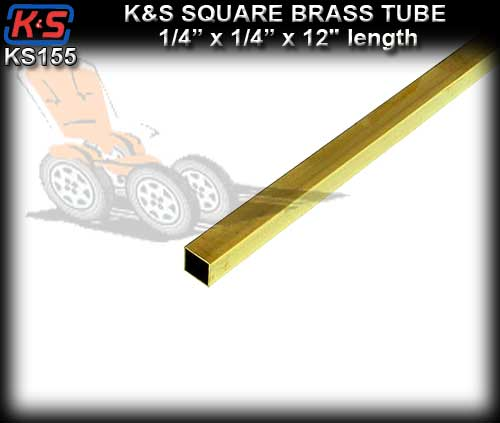 "KS155 - Square Brass Tube 1/4"" x 1/4"" x 12"" length"