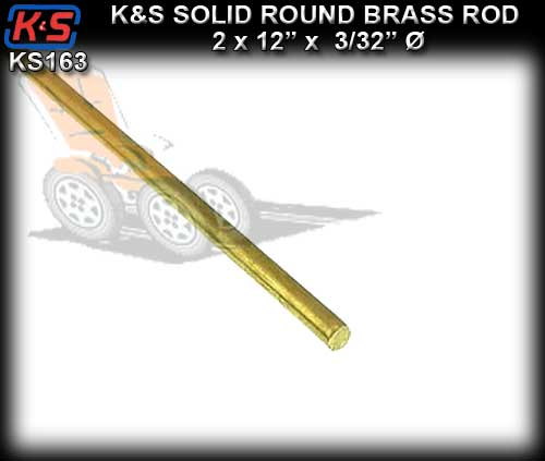 "KS163 - K&S Round Brass Rod 12"" x 3/32""dia."