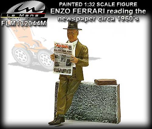 LE MANS MINIATURES FLM132044M - Enzo Ferrari reading news paper