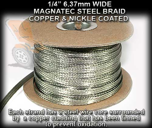 MAGNATECH BRAID SPOOL 250f/76.2m - 1/4 width Copper-Steel Braid