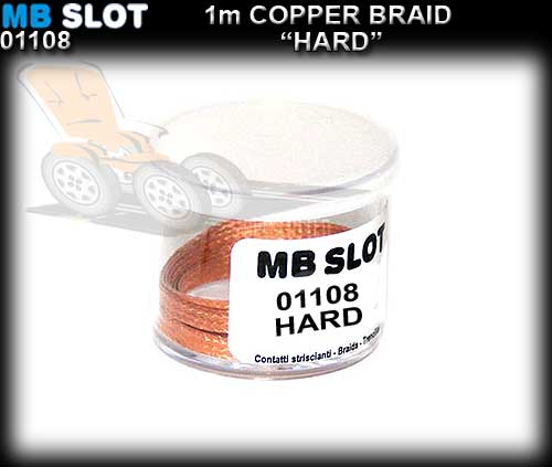 MBSLOT BRAID 01108 - Copper Braid Hard - 1 metre