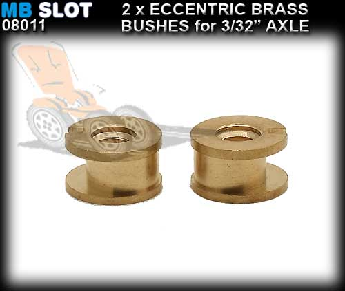 MB SLOT AXLE BUSHES 08011 - Eccentring Bushes for 3/32 Axles