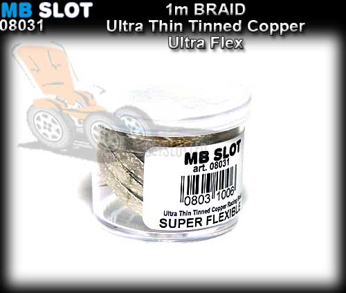 MBSLOT BRAID 08031 - Tinned Copper Braid Ultra thin Extraflex