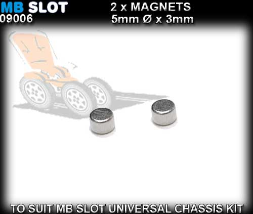 MB SLOT MAGNET 09006 - Magnets for Universal Chassis