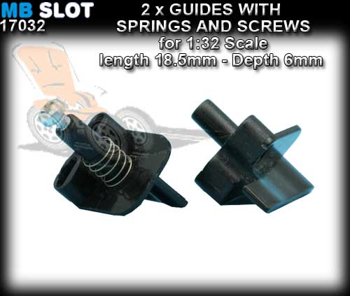 MBSLOT GUIDES 17032 - Guide with spring and screw