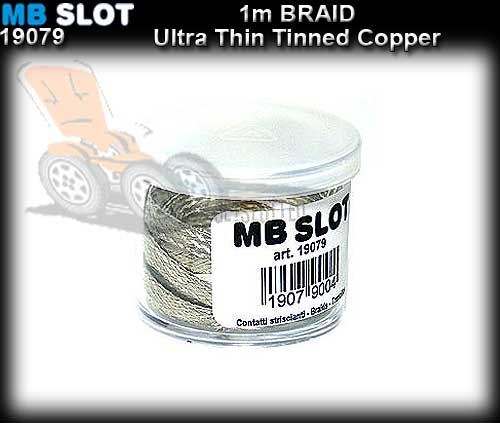 MBSLOT BRAID 19079 - Tinned Copper Braid Ultra thin - 1 metre