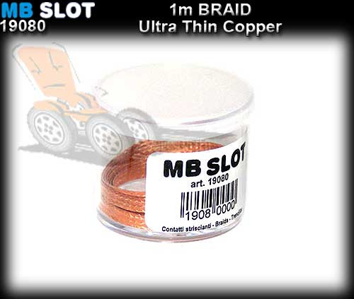 MBSLOT BRAID 19080 - Copper Braid Ultra thin - 1 metre