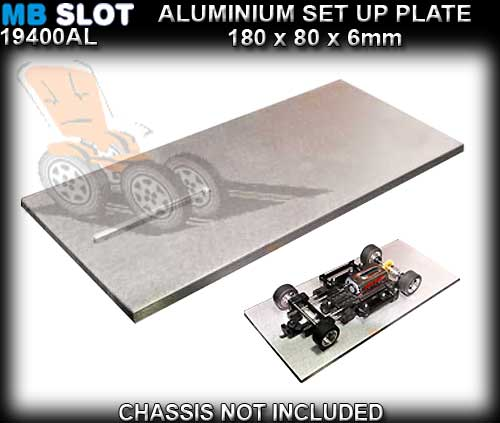 MB SLOT SET UP PLATE 19400/AL - Alluminium Rectified Base