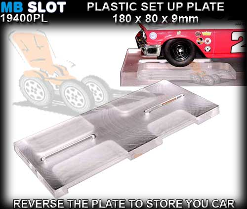 MB SLOT SET UP PLATE 19400/PL - Plexiglass Set Up Base for 1/32