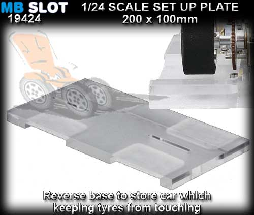MB SLOT SET UP PLATE 19424 - Plexiglass Set Up Base for 1:24