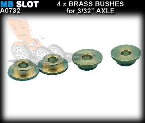 "MB SLOT AXLE BUSHES A0732 - Bushes for 3/32"" axles"