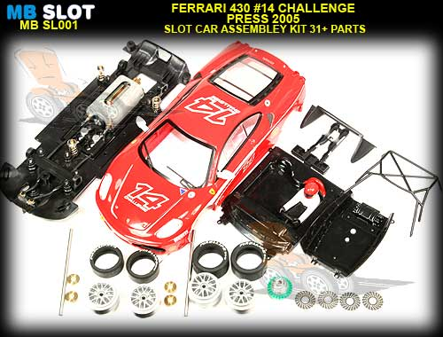 MB SLOT MBSL001- Ferrari F430 Challenge #14 - Red Press 2005 Kit