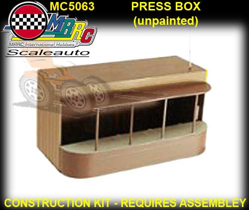 MRRC PRESS BOX MC5063 - White plastic kit unpainted -unassembled