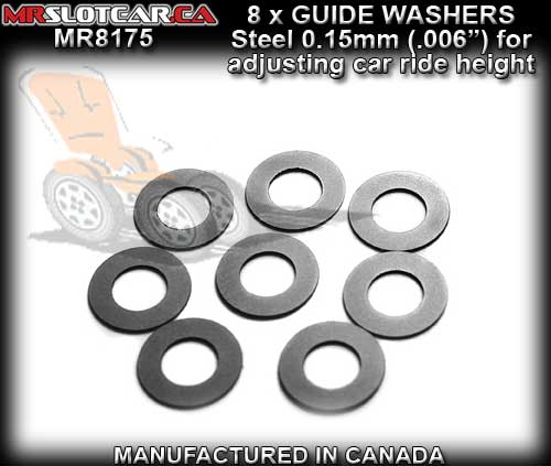 MR SLOTCAR GUIDE WASHERS MR8175 - Guide Washers 0.15mm