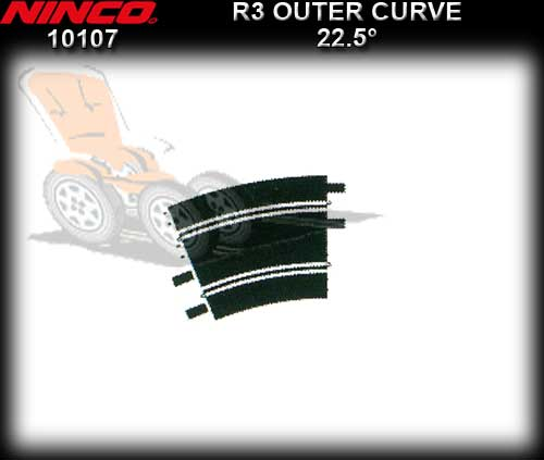 NINCO TRACK 10107 - 2 x 22.5 degree R3 Outer Curve