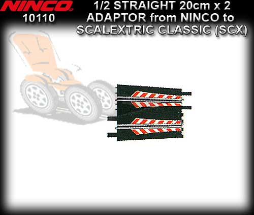 NINCO TRACK 10110 - 2 x Adaptor Ninco to Scalextric 20cm