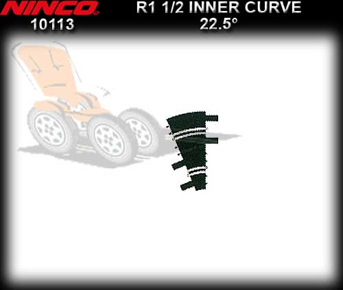 NINCO TRACK 10113 - 2 x R1 1/2 Inner Curve