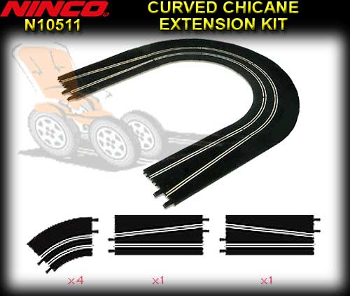 NINCO TRACK 10509 - Curved Chicane Extension Kit + Safety Walls