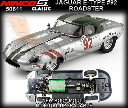 NINCO 50611 - Jaguar E-Type Roadster 'Silver 62' #92