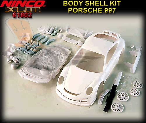 NINCO XLOT 1:28 BODY KIT 61802 - Porsche 977 White body Kit