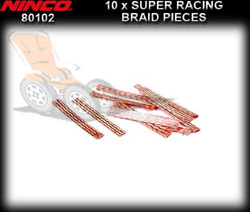 NINCO BRAID 80102 - 10 pieces Super Soft Copper Racing Braid