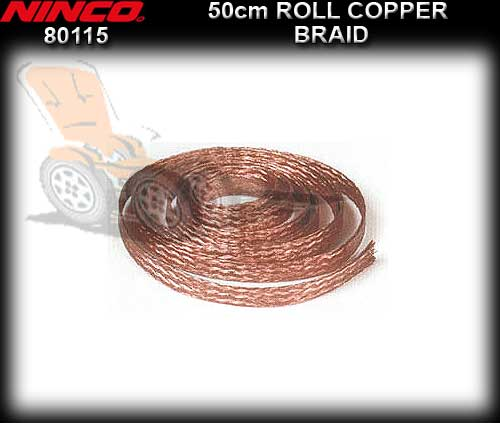 NINCO BRAID 80115 - Copper Braid 50cm Roll