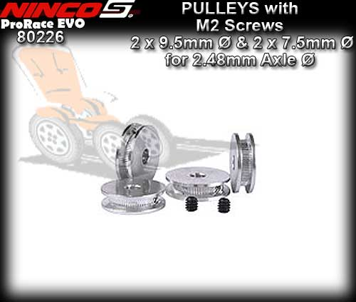 NINCO TRANSMITTION PULLEYS 80226 - Pulleys & M2 Screws