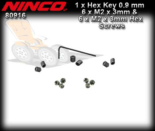 NINCO 80916 - ALLEN KEY Pro Race & 12 Grub Screws