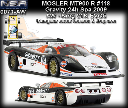 NSR 0071AW - Mosler MT 900R EVO5 - 24hr Hours of SPA 2009 #118