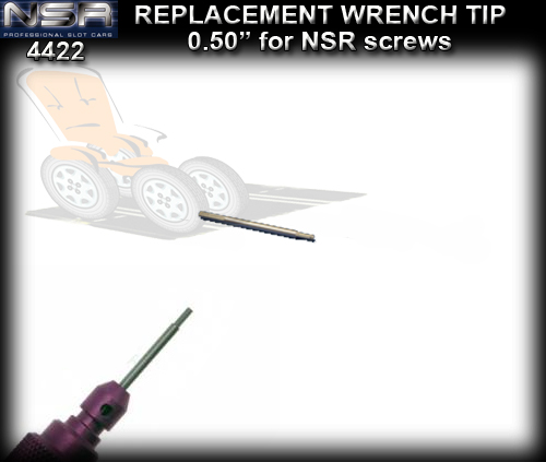 NSR WRENCH REPLACEMENT 4422 - .050 Aluminium tip replacement